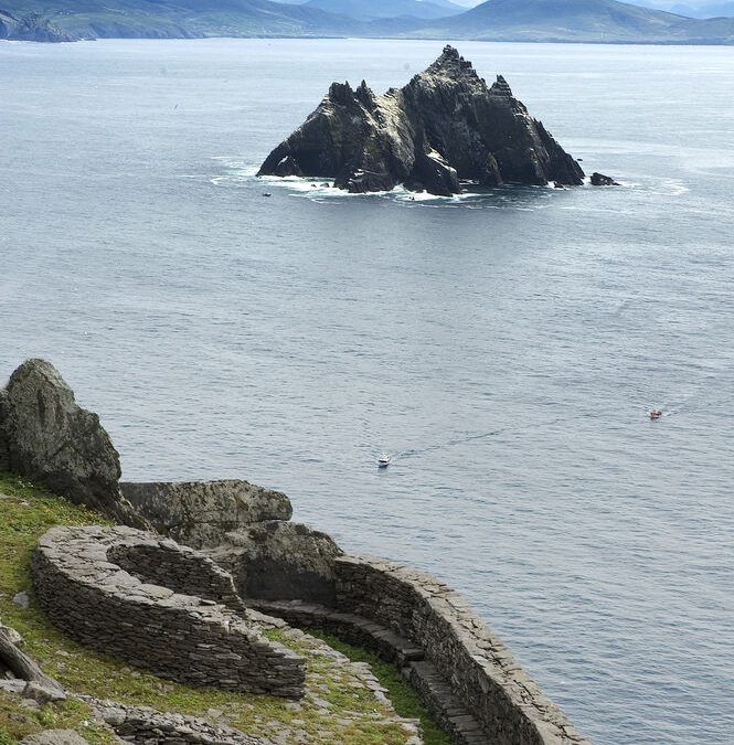 #8 of Sage Taxis list of sights to see on their virtual tour of the Ring of Kerry ; Portmagee and Skellig Michael